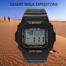 Duobla watch men Unisex Fashion LED Electronic Sports Watch Calorie Pedometer Chronograph Outdoor Wa