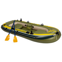 4 persons inflatable fishing boat 0.6mm PVC fishing inflatable boat rubber Drifting boat Canoeing kayak pool Water skiing float