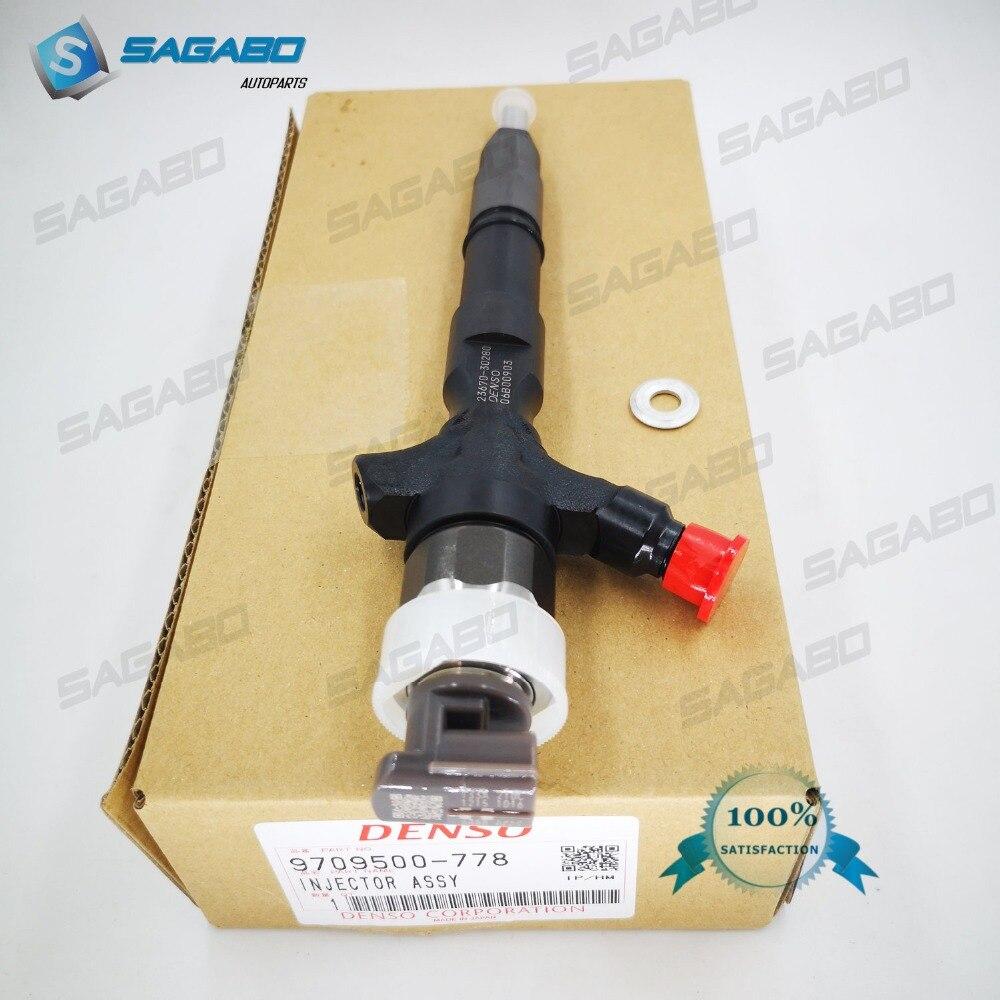 genuine new common rail Injector 095000 7780 095000 7781 2KD FTV 1KD FTV for 23670 30280