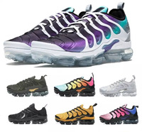 2018 Vapormax TN Plus VM Barely Grey In Metallic Women Men Running Sports Designer Shoes For Mens Sneaker Vapormax shoes
