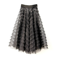 2019 new all match basic miniskirt pants cover skirt eyeholes pants cover skirt lace underskirt bust skirt slip