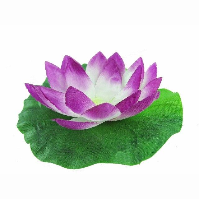 Romanti prezent na walentynki Lotus Wishing lampa znicz pływająca świeca urodzinowa lampa LED latarnia wodna dekoracja ślubna