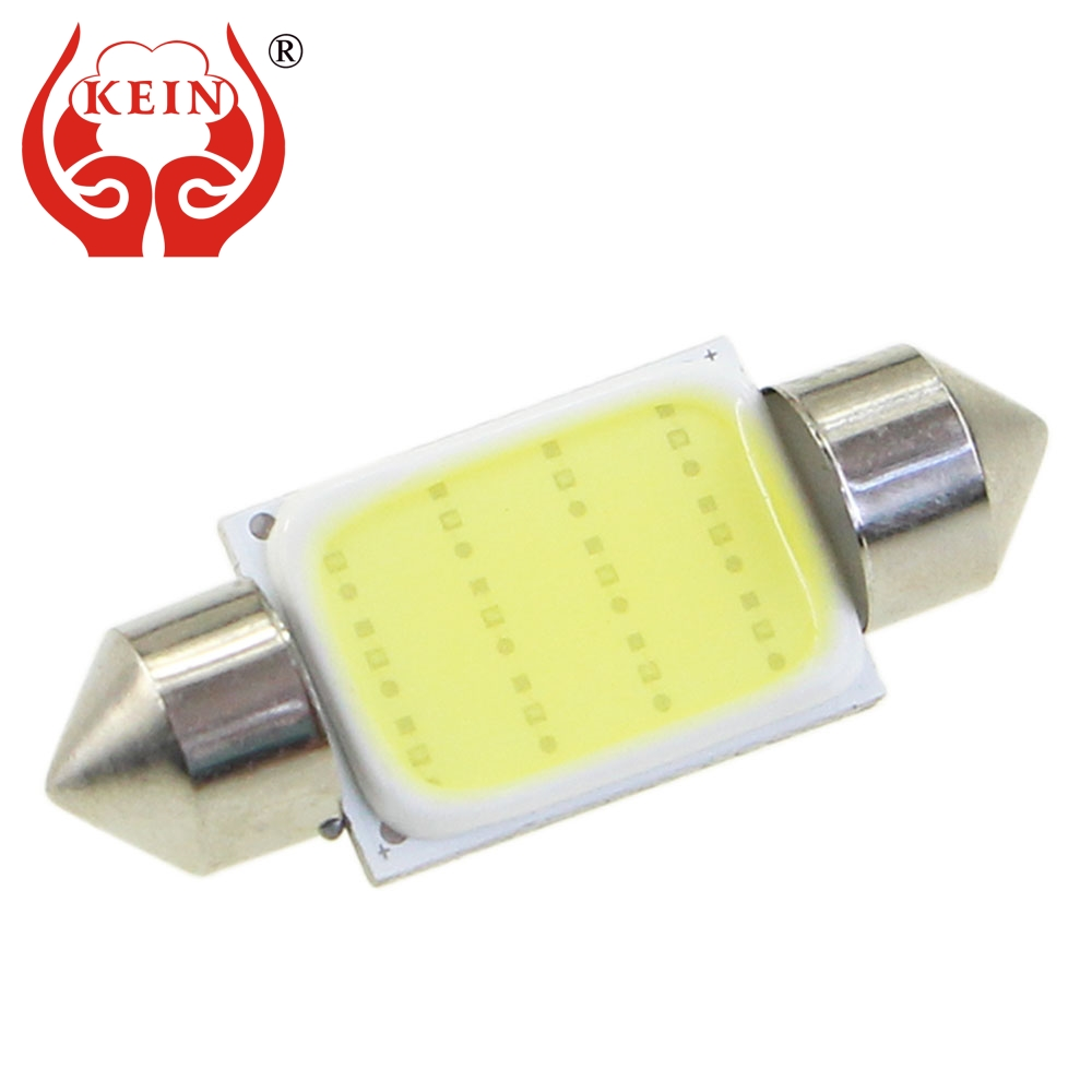 KEIN C5W C10W festoon led Bulb 31mm 36mm 39mm 41mm car COB C3W Interior reading Dome License Plate Lamp Lights Auto 12V white 10pcs lot led car light source c5w festoon 31 36 39 41mm auto interior bulb reading dome license plate lamp 12v white color