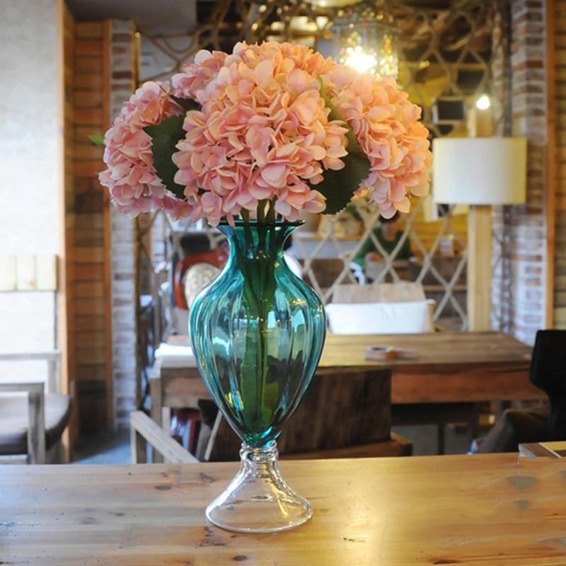 Us 664 5 Offbunga Sederhana Perancis Hydrangea Simulasi Bunga Buatan Tanaman Hydrangea Pernikahan Rumah Pesta Dekorasi In Buatan Bunga Kering