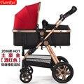 2016 de alta qualidade alta ponto de vista Luxuoso do bebê carrinho de criança, quatro rodas único bebê infantil assento de carro carrinho de criança