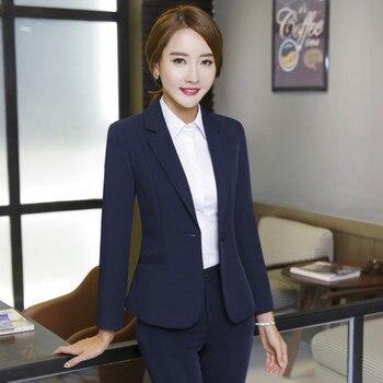 Customized new women's solid color single button suit two-piece suit (jacket + pants) women's business formal fashion slim suit