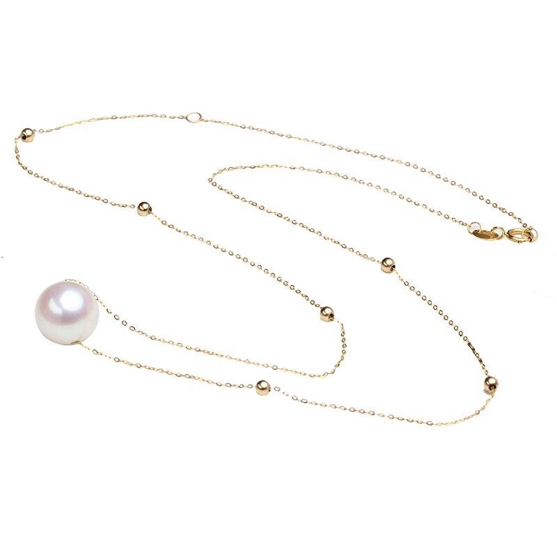 Sinya 18 พัน gold choker สร้อยคอ 7.5 10 มิลลิเมตรธรรมชาติรอบไข่มุกและ 3 มิลลิเมตรลูกปัดทอง Au750 gold ความยาว 45 เซนติเมตรสำหรับสตรี-ใน สร้อยคอ จาก อัญมณีและเครื่องประดับ บน   1