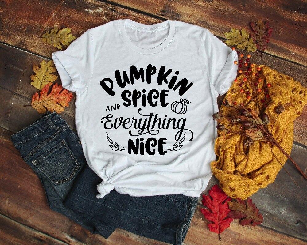 Pumpkin Spice and Everything Nice Women Hoodie Halloween Thanksgiving