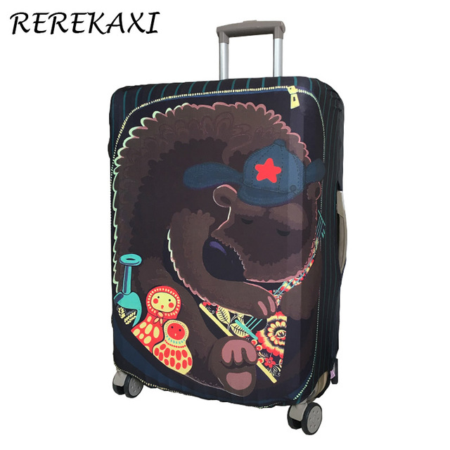 REREKAXI 18-30 Inches Travel Suitcase Elastic Protective Cover, Trolley Luggage Baggage Dust Case Cover, Travel Accessories