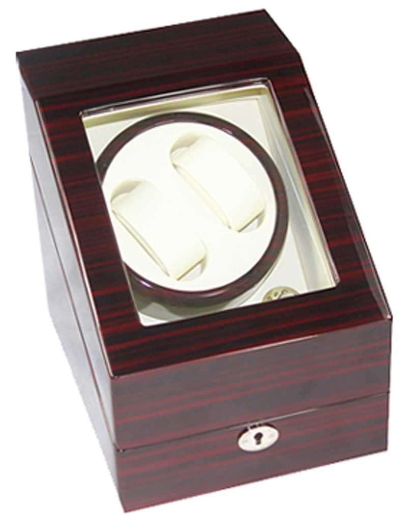 [100% Handmade]Exteremly Quiet High-end Walnut Color Wooden Watch Winder Capacity for 2 Automatic Watches with 3 Grids Storage ultra luxury 2 3 5 modes german motor watch winder white color wooden black pu leater inside automatic watch winder