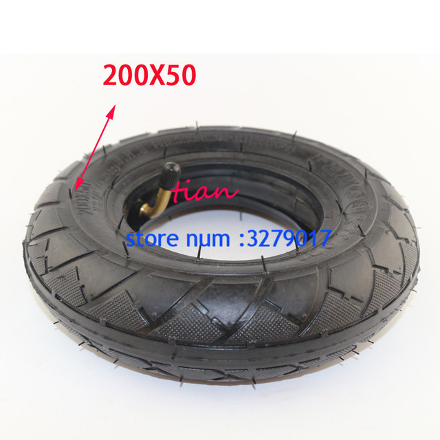 "Rueda para silla de ruedas (8 ""X 2""), ruedas de 200X50 (8 pulgadas) aptas para Scooter eléctrica o de gasolina y Scooter Eléctrico (tubo interno incluido)"