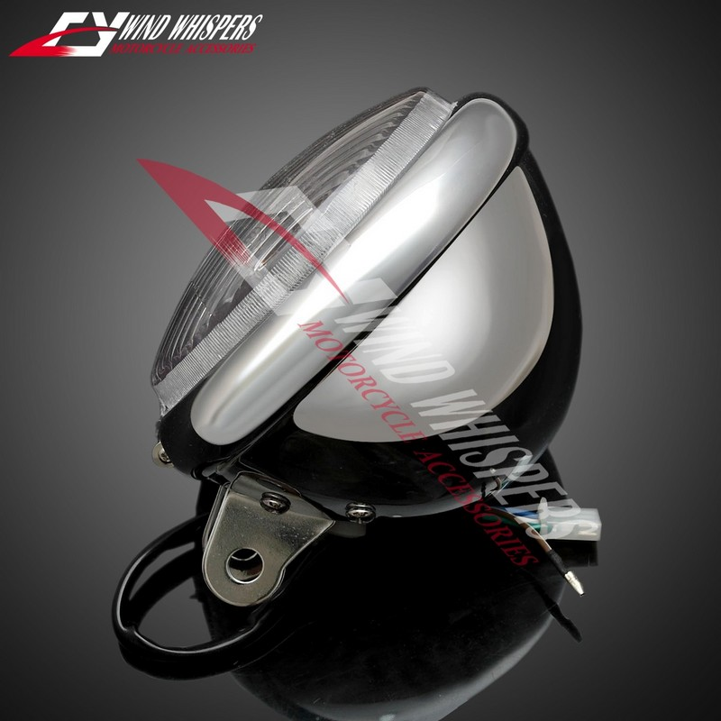 Cruise Motorcycle chrome Modified metal Headlamps Front Headlight For Honda Steed 400 600 Magna 250 750 Shadow 400 750 Мотоцикл