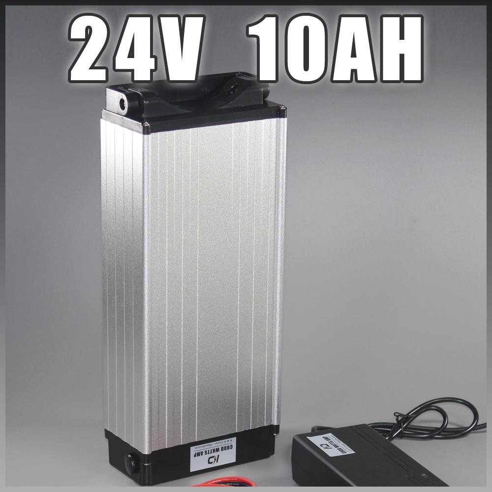 24V 10Ah electric bike li ion battery 250W 500W Rear rack Electric Bicycle lithium Battery