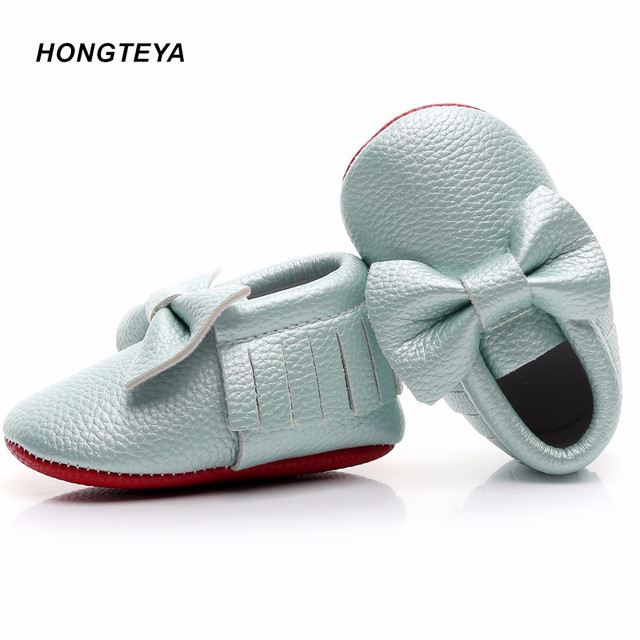 00dc33ab69d New Red bottoms Bow Leather shoe Newborn Baby Girl Baby Moccasins Soft boys  Shoes Bebe Fringe Soft Soled Non-slip Footwear Crib