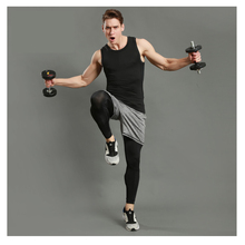 3pcs=1Set Men's Sports Set Vest+Shorts+Tight Pant  Training&Exercise Set for Basketball Running Set Joggers Gym Fitness Suits