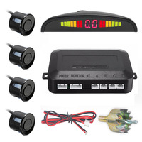 One Set Led Parking Sensor Auto Car Detector Parktronic Display Reverse Backup Radar Monitor System With