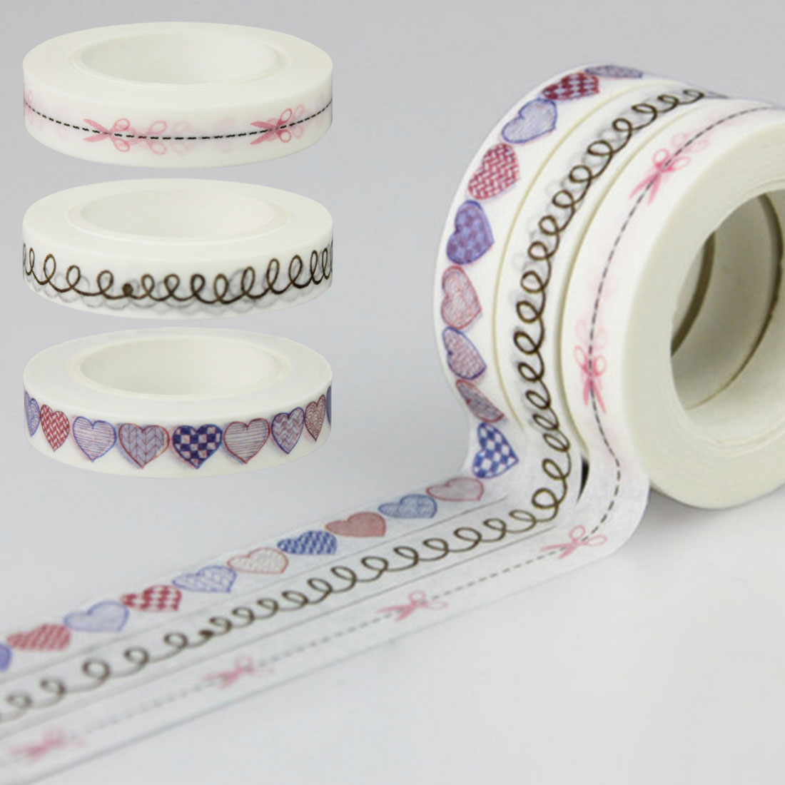 8mm*10m Cute Lot Kawaii Decorative Washi Tape Writing Hand Tear Tape DIY Scrapbooking Masking Tapes School Office Supply