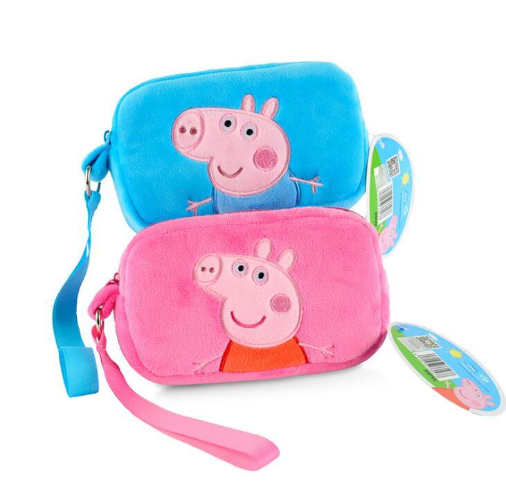 Humorous Genuine Peppa Pig George Pig Plush Toys Kids Girls Boys Kawaii Kindergarten Bag Backpack Wallet Money School Bag Phone Bag Dolls