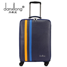 DANXILONG 20″22″24 inch Men PU Retro Business suitcase Bags with rod seyahat bavul High-end travel Trolley case rolling luggage