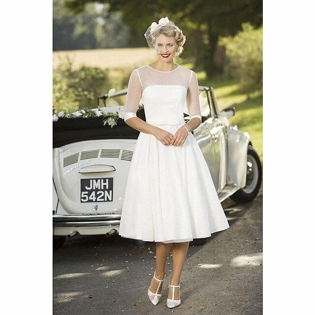 Vintage Polka Dot Tüll Brautkleider für die Braut Brautkleider ...