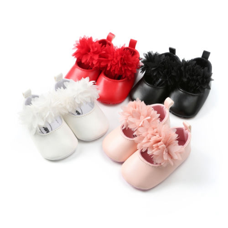 Infant Toddler Baby Girl Soft Sole Crib Shoes PU Leather Sneaker Newborn To 18 Months Leather Shoes