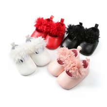 Infant Toddler Baby Girl Soft Sole Crib Shoes PU Leather Sneaker Newborn to 18 Months Leather Shoes стоимость