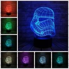 3D Star Wars Storm Knight Mode USB LED Infantil lamp floodlights colorful gradient nightlight Starry lights for Kids Toys Gift