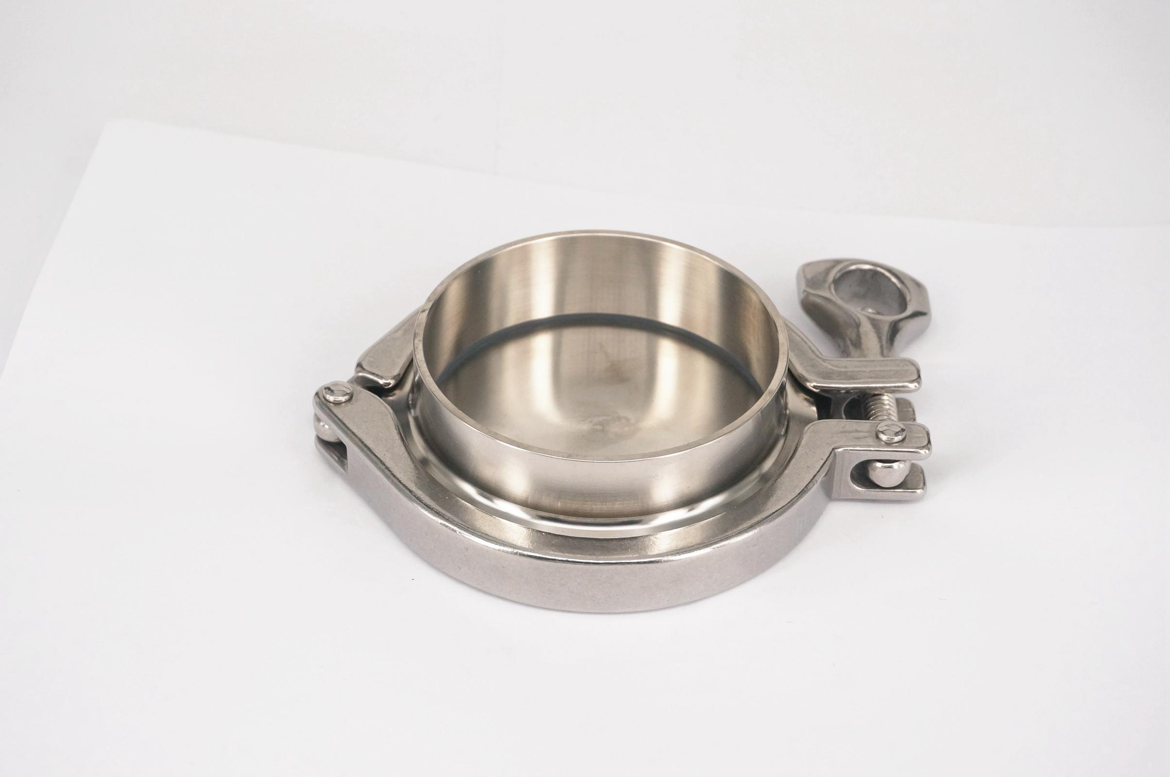 A Set 76mm 3 Sanitary Tri Clamp Weld Ferrule + Tri Clamp + Silicon Gasket + End Cap 304 Stainless steel