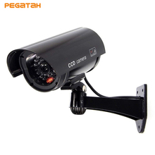 Dummy Camera with Flashing Red LED Bullet Waterproof Fake Security Camera Fake CCTV Surveillance Camera