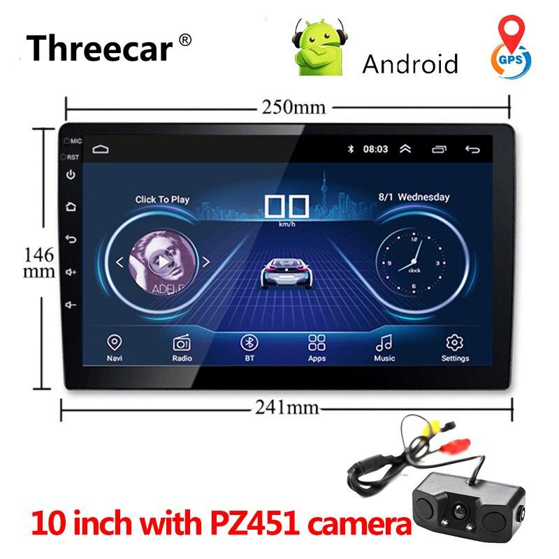 Universel 9 ''10'' voiture Android 8.1 lecteur multimédia Quad Core 2 din radio GPS navigation Wifi Bluetooth Audio voiture stéréo 2din