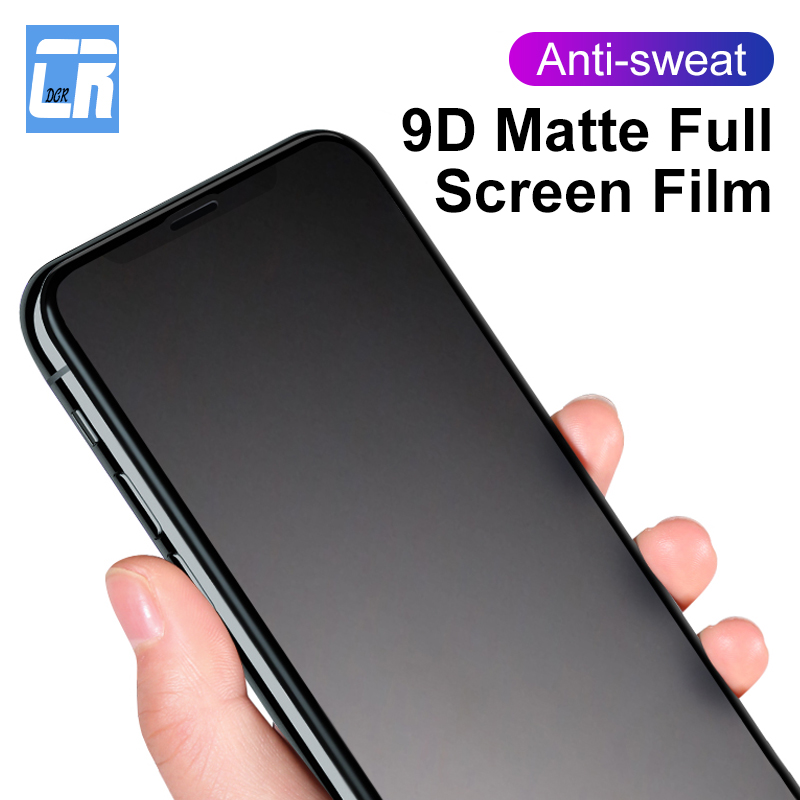 9D Matte Frosted Screen Protector For IPhone 11 Pro XS MAX Tempered Glass For IPhone XR 8 7 6 Plus No Fingerprint Protector Film