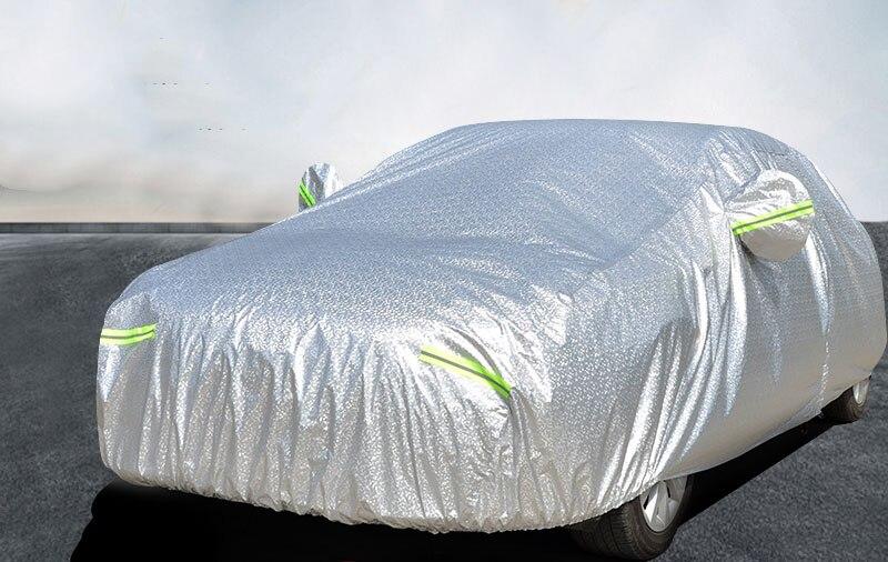 Bâche de voiture épaisse feuille d'aluminium 3 couches étanche soleil pluie résistant à la grêle pour honda civic volvo s60 accessoires auto-couvertures