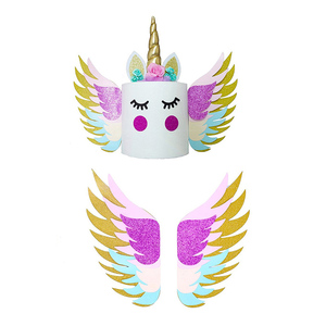 Image 2 - Unicorn Wings Wedding Cake Topper For Decor Mariage Valentines Day Decoration Wing Cake Topper Party Supplies Baking Accessoires