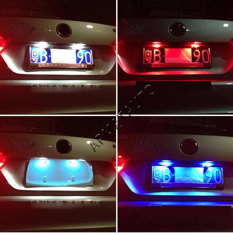 2x T10 W5W لوحة رقم الترخيص مصابيح مزودة بإضاءة ليد مصباح لتويوتا RAV4 برادو هايلاندر كورولا كراون كامري بريوس ريز فويس يارس