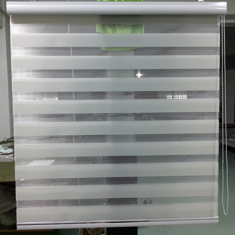 Custom Made 100 Polyester Translucent Roller Zebra Blinds In Light Grey Window Curtains 30 Colors Are Available