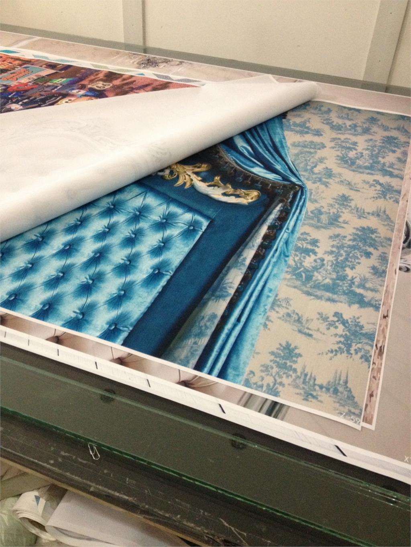Ткань искусства фотографии Задний план фон напечатаны с бирюзой изголовье кровати для фотостудии новорожденный z-59