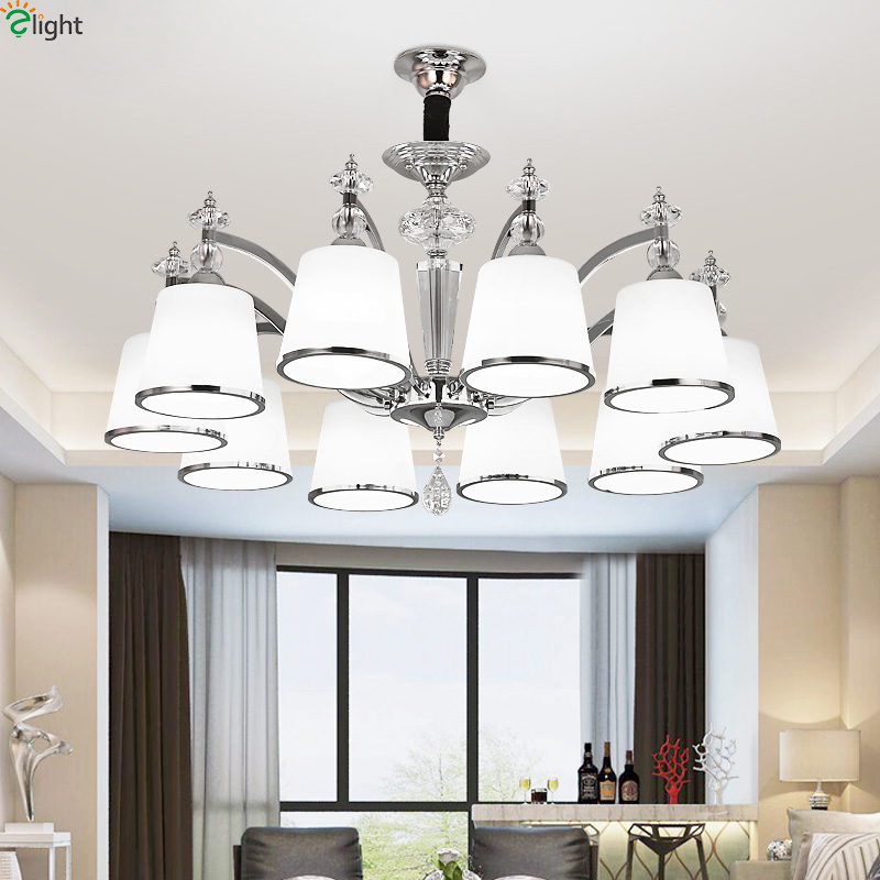 Modern Lustre Crystal Led Chandelier Lighting Chrome Metal Dining Room Led Ceiling Chandeliers Light Bedroom Led Hanging LightsModern Lustre Crystal Led Chandelier Lighting Chrome Metal Dining Room Led Ceiling Chandeliers Light Bedroom Led Hanging Lights