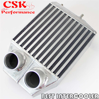 Twin 2 rows Side Mount Intercooler 2.25 In/outlet For Renault 5 GT Turbo 85 91