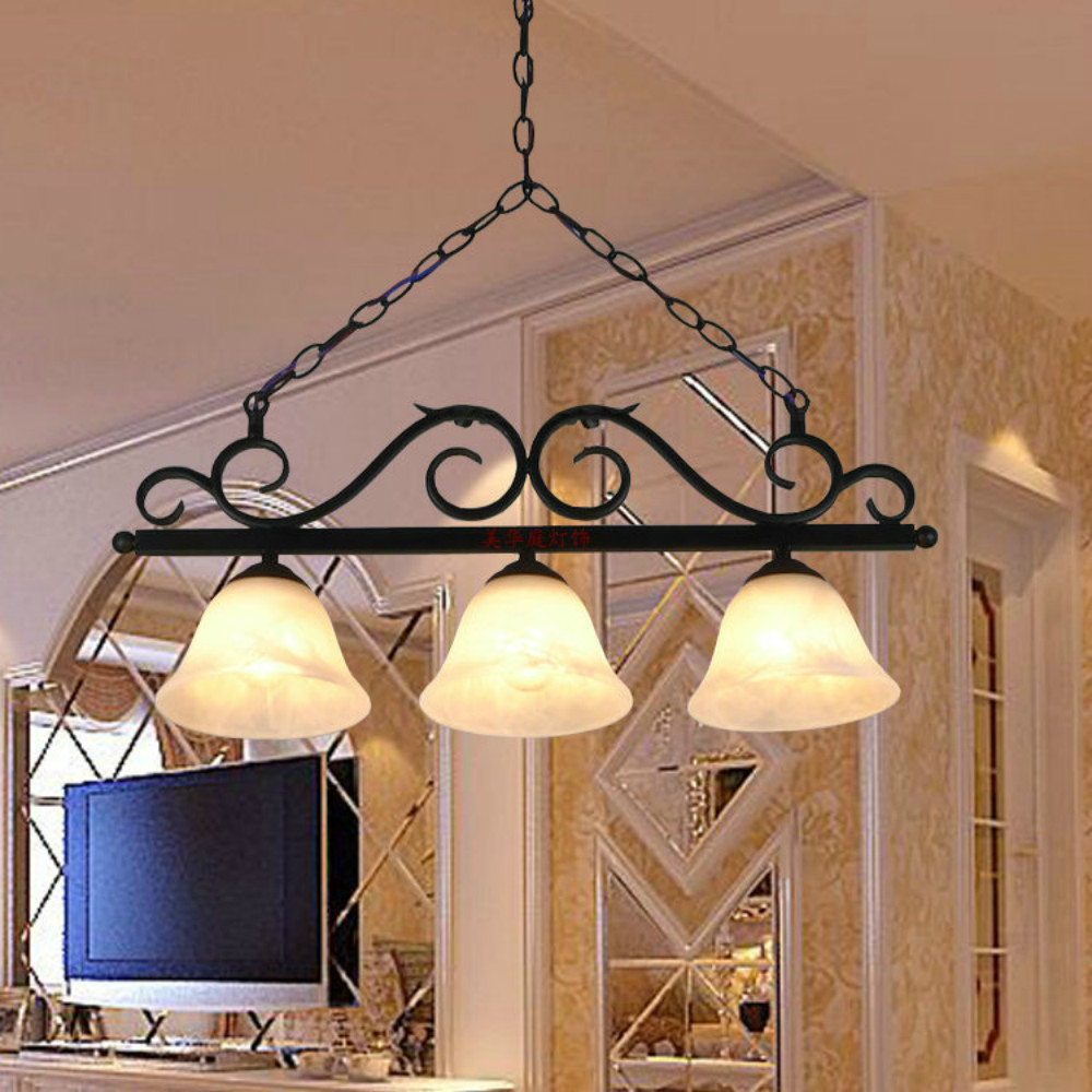 Nordic Style Chandeliers Dining Living Room Study Hanging Lighting Fixtures Wrought Iron Black Industrial Retro Chandelier E27 retro vintage black rust wrought iron cage chandeliers e14 big french empire style crystal chandelier led lamp hardware lighting