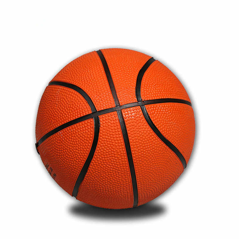 Mini Yellow Basketball Rubber Training Small Size for Indoor Mini Basketball