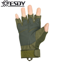 Hot 2017 Brand ESDY Outdoor Black hawk tactical Hell storm half gloves mountaineering climbing Camping Hiking cycling Men