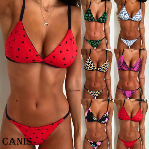 Women Swimming Suit Push-Up Padded Bikini Set Strappy Swimsuit Beachwear Swimwear Bathing Suit