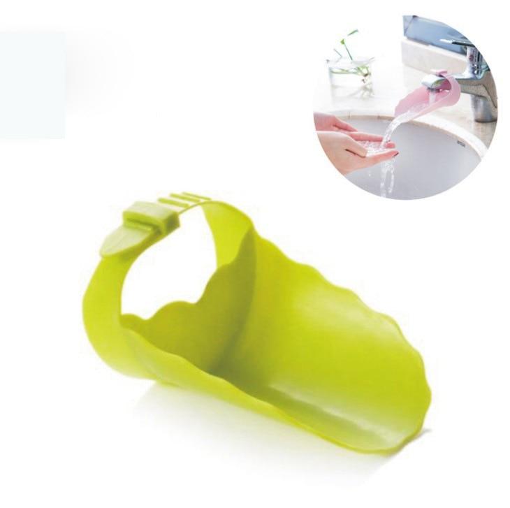 2018 Verkauf Bad Waschbecken Wasserhahn Wasserhahn Erweiterung Tank Elastische Gerät Erweiterung Leitfaden Für Baby Kind Hand Waschen Helfer F2297