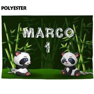 Image 4 - Allenjoy Verjaardag Fotografie Achtergrond Panda Bamboe Bos Custom Achtergrond Foto Studio Schieten Prop Photophone Photocall Decor