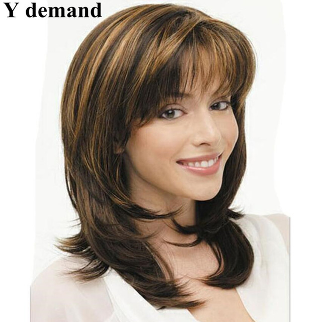 Long Layered Haircuts Synthetic Full Wigs For Women Straight Wig