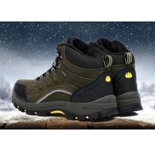 women's khaki flats casual shoes lace-up short plush,men's velvet warm outdoor snow boots, winter anti-skid work boots