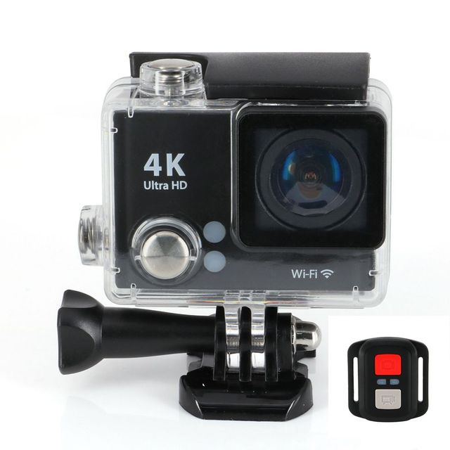 """Mini Action Cameras Ultra HD 4K H2R 2.4G Remote Control WIFI Sports Video Camcorders 1080P 170 Lens 2"""" LCD Waterproof Helmet Cam"""
