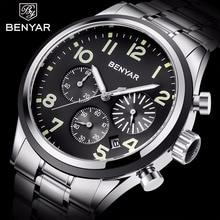 Reloj BENYAR para Hombre, de lujo, de piel, resistente al agua, reloj de Hombre, reloj de cuarzo de negocios a la moda, reloj deportivo 2019
