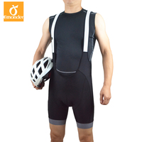 EMONDER Cycling Bib Shorts 4D Padded MTB Breathable Quick Dry Mesh Brace Mountain Road Bike Pants