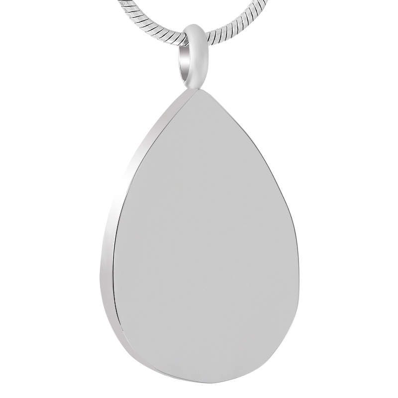 IJD9433 Fress Custom Engrave Blank Stainless Steel Cremation Necklace Funeral Keepsake Teardrop Pendant Memorial Ash Urn Holder